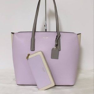 New Kate Spade Margaux large tote and Wallet Set